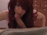 Cute Redhead Pussy Sucks Big Dick and Does a Perfect Footjob