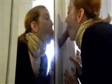 Redhead Girl Finds a Dick in the Closet and Starts Sucking It