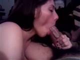 Wife Oral Sex on a Big Stiff Dick