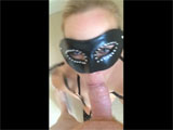 Wife with Collar Receives a Facial Sperm Cumshot