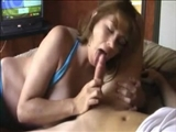 Busty Amateur Mature Wife Has Good Skills Doing Handjob and Oral