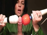 Wife Gives Spectacular Handjobs with Cum Finishing