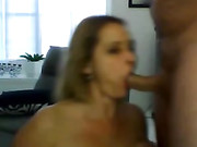 Wife Dick Sucking and Jizz on Face on Webcam
