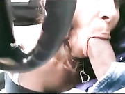 Awesome Cock Sucking in the Car She Sucks so Good