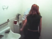 Cheating Girlfriend Sucks Her Boss Dick in Toilet Room