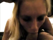 Blonde Oral Sex with Sperm Finish on Her Face