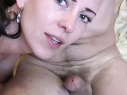 Cumslut Wife Gives Oral Sex and Licks Off the Cum