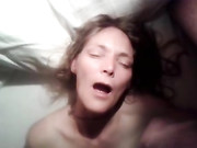 Dutch Wife Receives Huge Cumshot Load on Her Face and Mouth