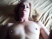 Mature Blonde Woman Fucked and Cummed on Face