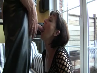 Mommy knows how to suck hard dick and swallow the sperm