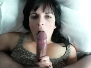 Hot Stepmom Does Oral Sex and Swallows Dads Cum