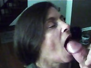 Amateur Mature Wife Cock Blowjob and Cum Swallow