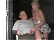 Mature Couple Wife Gives Excellent Handjob with Cum Finish